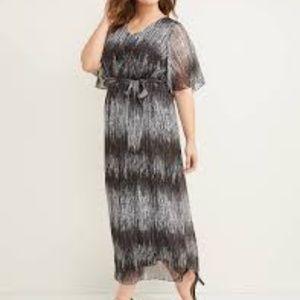 Lane Bryant Flutter Sleeve Maxi Dress 26